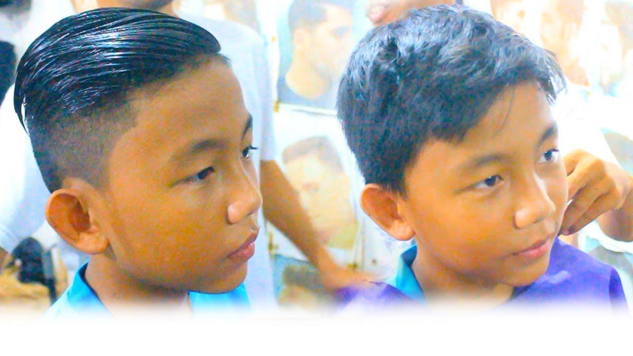 GAYA RAMBUT ANAK SMP Masa Kini #Indonesianbarber #61 - YouTube