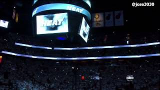Miami Heat Game 3 2012 NBA Finals Introduction vs Oklohoma City Thunder