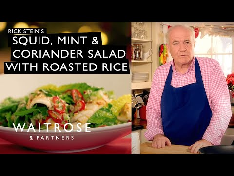 Countdown To Christmas | Rick Stein's Squid, Mint And Coriander Salad With Roasted Rice | Waitrose