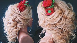 видео Свадебная прическа с венком из цветов