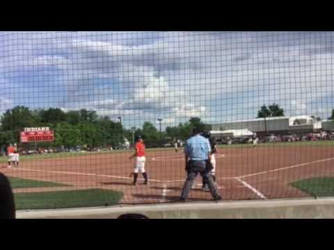 Megan & Montana both score in bottom of 1st inning for Carterville in Super Sectionals
