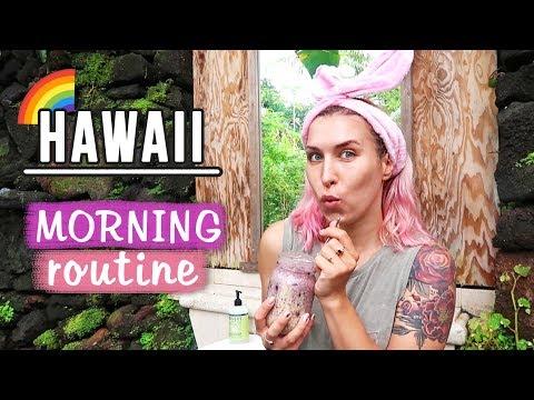 ♦ My Morning Routine na Hawajach 🌈 + maseczka DIY ♦ Agnieszka Grzelak Beauty
