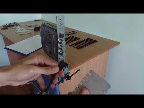 Взлом отмычками BORDER   Карточка для сувальдного замка Бордер 6+6