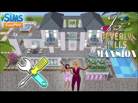 The Sims FreePlay 🛠 LIVE BUILD | BEVERLY HILLS MANSION |🕶☀️ By Joy.