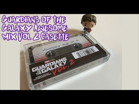 Guardians of the Galaxy - Awesome Mix Vol. 2 Cassette Soundtrack Review & Unboxing