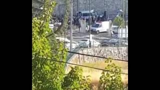 جنازة الشرطي الشاب كميل شنان ابن قرية حرفيش