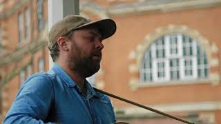 frightened rabbit modern leper bandstand busking