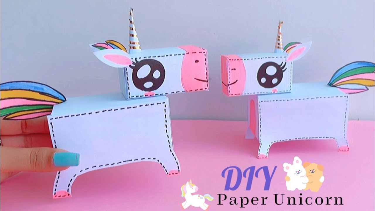 how to make paper unicorn / DIY cute paper unicorn / paper craft /Unicorn craft / handmade unicorn