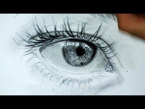 Comment dessiner des yeux r alistes tutoriel 4 youtube - Oeil a colorier ...