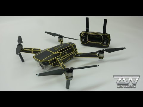 DJI Mavic Pro drone wrap from Zapwrapz - Printed on 3M vinyl