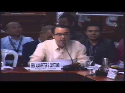 Allan Peter Cayetano, SAF 44,Mamasapano, Philippine Senate, Investigation, February 24, 2015, 814