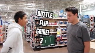 Ultimate Game of Bottle FLIP in Walmart! | Round 3