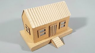 How To Make A Nice Cardboard House Step By Step - Cardboard House Model Easy