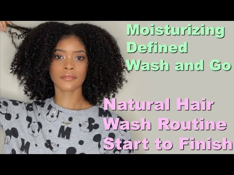 Natural Hair Wash Routine (Start to Finish) Wash n Go | Straight to Curly 3C 4A