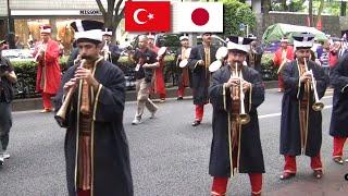 Mehter in Tokyo トルコ・オスマン軍楽隊 表参道パレード2015