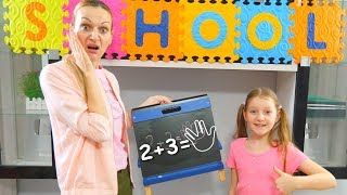 Sofia and Sara Pretend Play School at Home | Funny Kids Video with Education for Kids