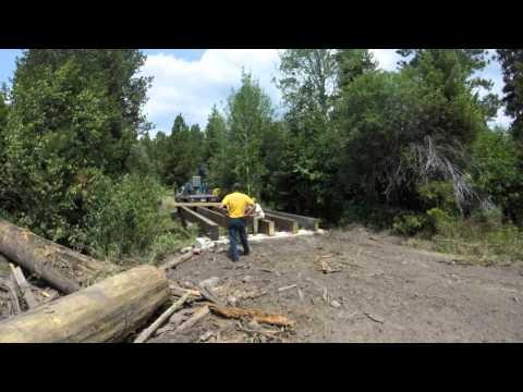 Bandy Ranch - bridge construction