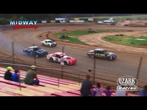 LEBANON MIDWAY SPEEDWAY - BOMBERS - HEAT RACE -  6-29-18