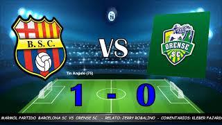 Partido barcelona vs orense, campeonato liga pro - ecuador.
