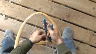 Snowshoe Weaving Part 8: Installing Edging Line
