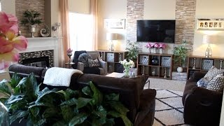 ♥ Glam Home ♥ Cozy and Glam Family Room Tour