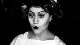 Bride of Frankenstein Make Up Tutorial