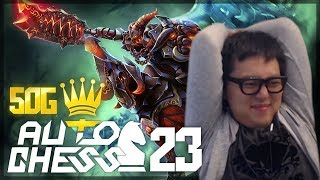 Spent 50G Rolling for Chaos Knight LVL 3!!! | Amaz Auto Chess 23