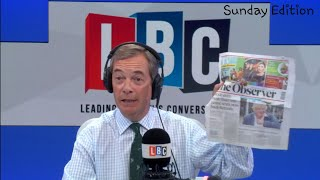 The Nigel Farage Show: Political parties losing identity/Freedom of speech. LBC - 12th Aug 2018