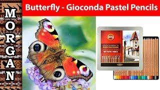 Pastel Pencils Butterfly using - Gioconda by KOH-I-NOOR