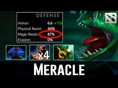 Meracle 87% Magic Resist Tidehunter Dota 2