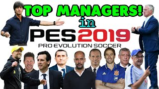 Top Managers in PES 2019 MOBILE with Highest Management skills