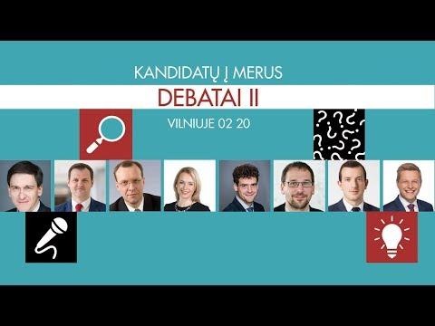 Vilniaus miesto kandidatų į merus debatai