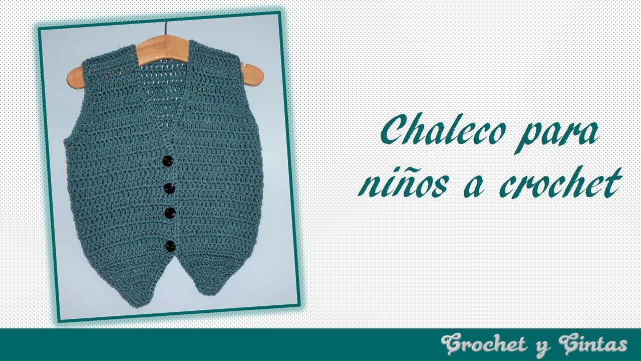 Como tejer chaleco para bebé tejido a crochet - YouTube