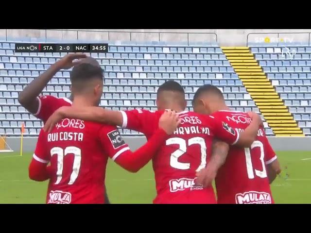 Goal | Golo Rui Costa: Santa Clara (2)-0 CD Nacional (Liga 20/21 #26)