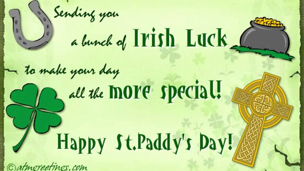 Happy St Patricks Day Ecards Greetings Card Wishes