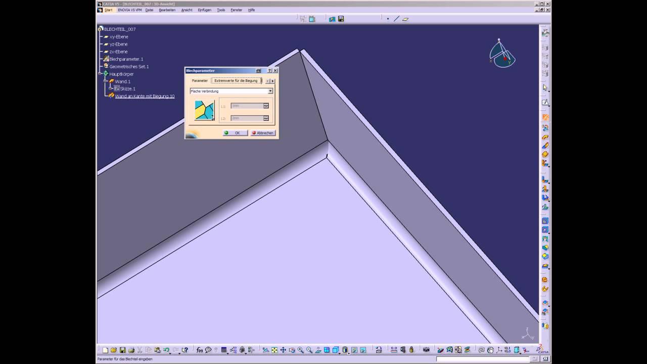 Catia Tipp Oktober Generative Sheetmatal Design Teil 5