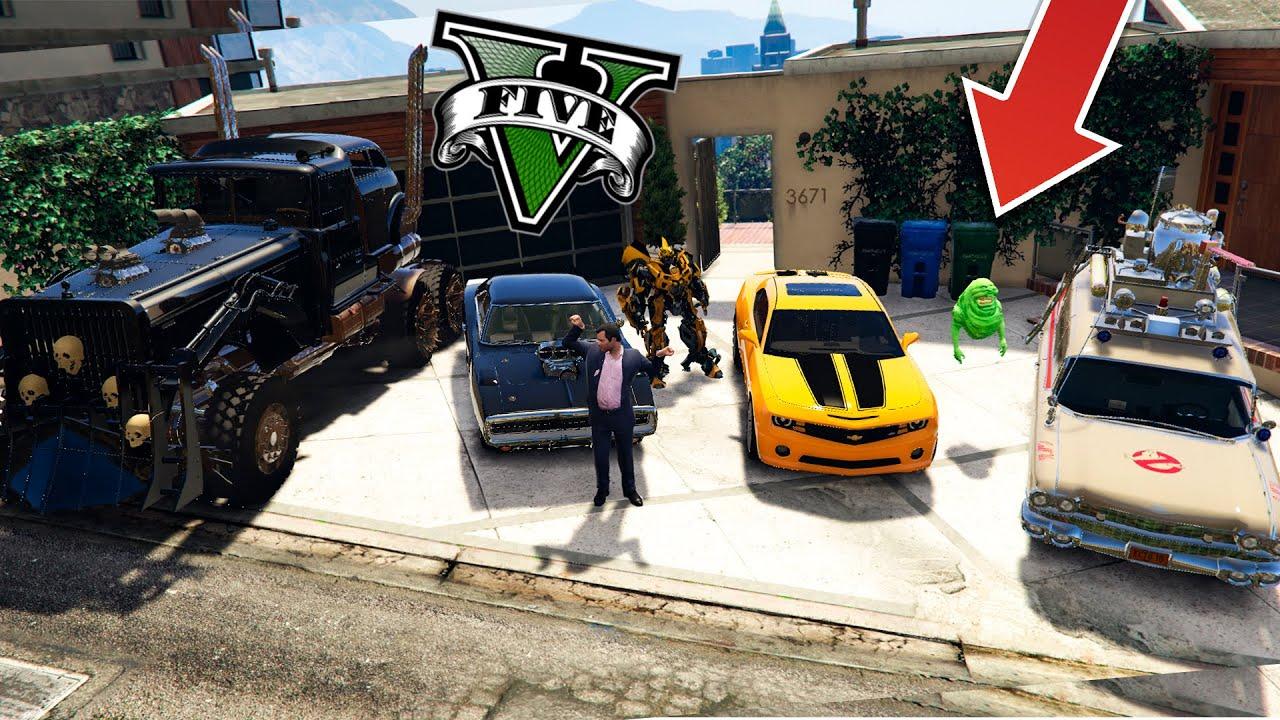 ¡¡ ROBO LOS MEJORES COCHES FAMOSOS DE PELICULAS EN GTA 5 !! (GTA V MODS) - ElChurches