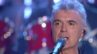 """Talking Heads perform """"Burning Down the House"""" at the 2002 Hall of Fame Ceremony"""