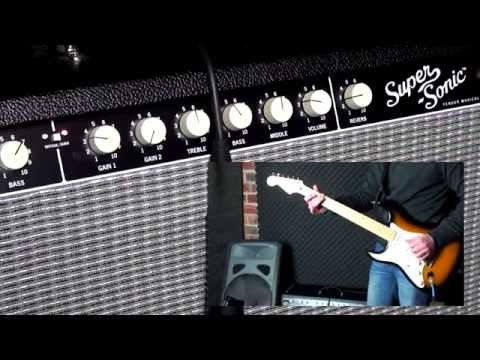 The New Fender Super-Sonic 60 Guitar Amplifier (with Stratocaster)