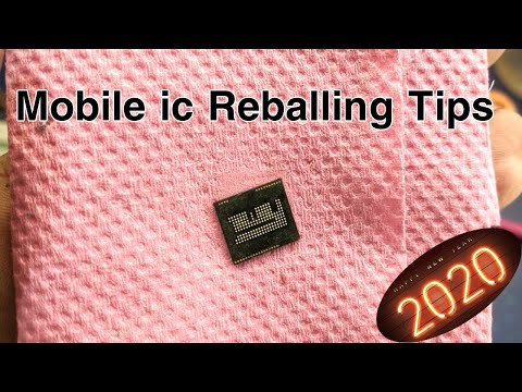How to eMMC-CPU-BGA Mobile ic Reballing - BGA Reballing Tips