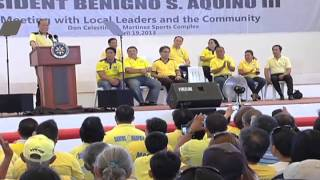 Meeting with Local Leaders and the Community in Bogo City, Cebu  4/19/2013