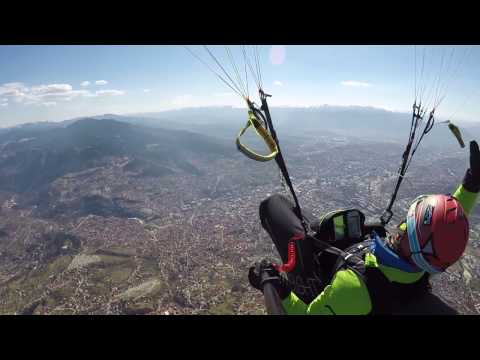Paragliding, flying around of my home
