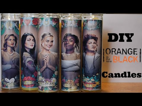 DIY Orange Is The New Black Candles
