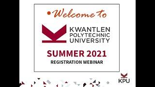 Registration Webinar Recording Summer 2021