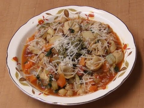 Minestrone with Cheese Tortellini with Michael's Home Cooking