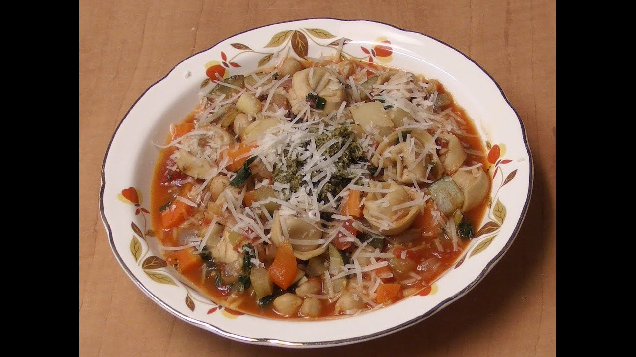 Minestrone with Cheese Tortellini - YouTube