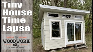 Tiny House Construction Time Lapse. Building A House In 19 Minutes!