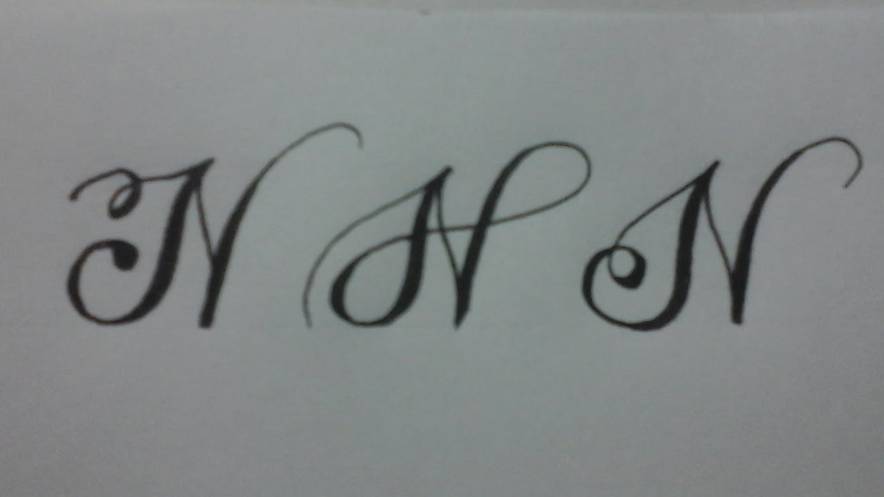 Calligraphy letter n with normal pen youtube