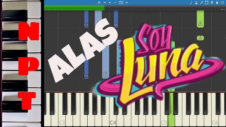 soy luna  alas  piano tutorial  letra  como tocar alas  disney  how to play alas on piano
