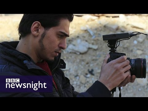 The journalists risking their lives to film in Aleppo  - BBC Newsnight